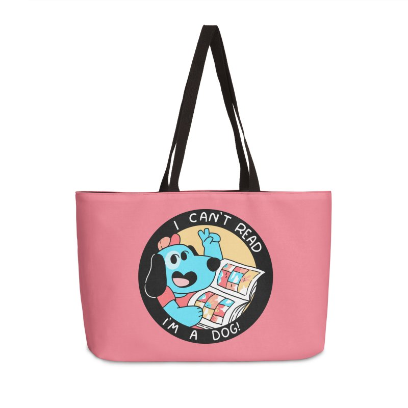 I CAN'T READ! Accessories Weekender Bag Bag by GOOD AND NICE SHIRTS