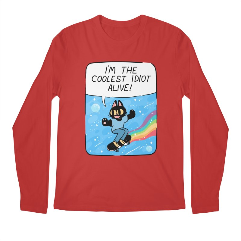 COOLEST IDIOT Men's Regular Longsleeve T-Shirt by GOOD AND NICE SHIRTS