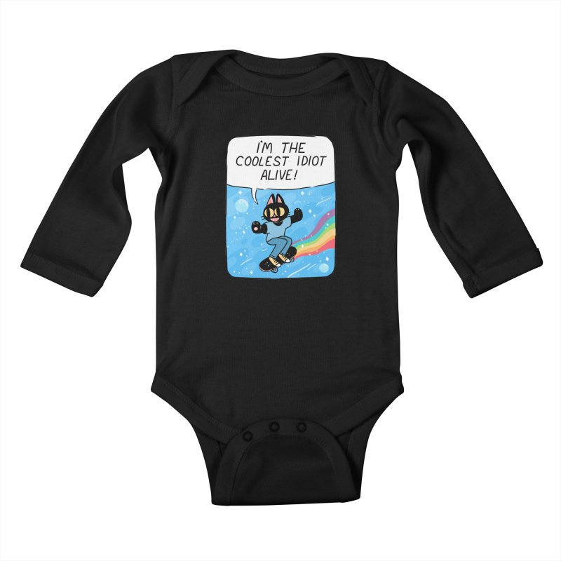 COOLEST IDIOT Kids Baby Longsleeve Bodysuit by GOOD AND NICE SHIRTS