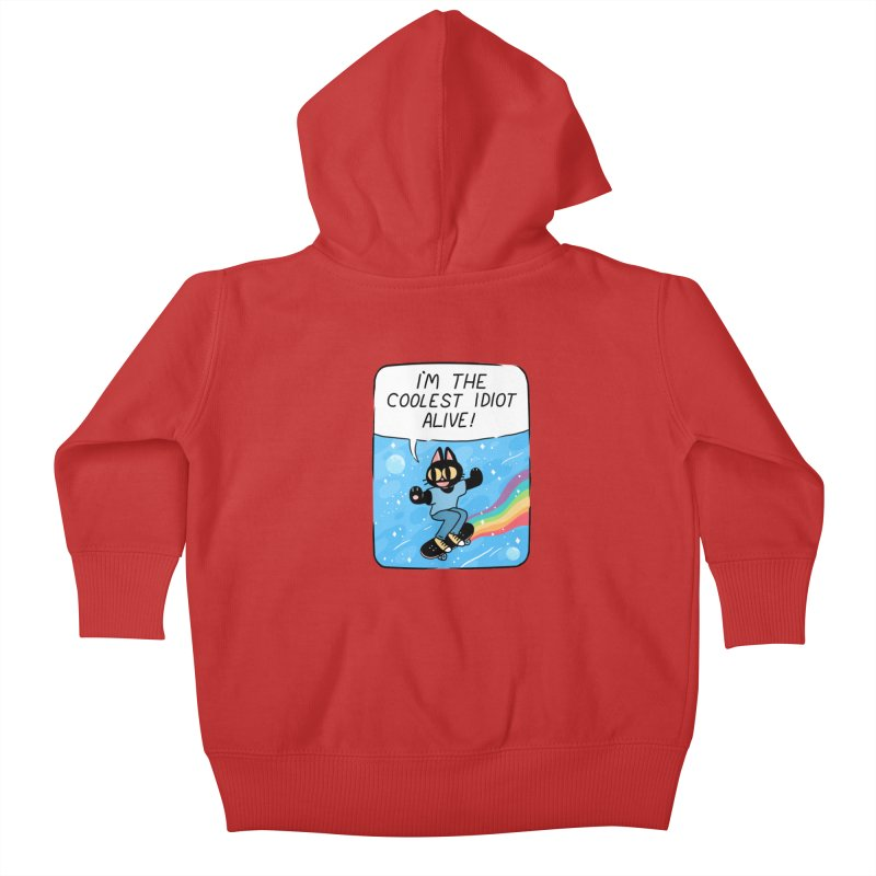 COOLEST IDIOT Kids Baby Zip-Up Hoody by GOOD AND NICE SHIRTS