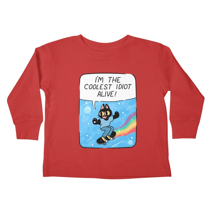 COOLEST IDIOT Kids Toddler Longsleeve T-Shirt by GOOD AND NICE SHIRTS