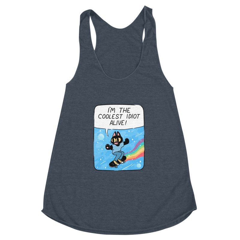 COOLEST IDIOT Women's Racerback Triblend Tank by GOOD AND NICE SHIRTS