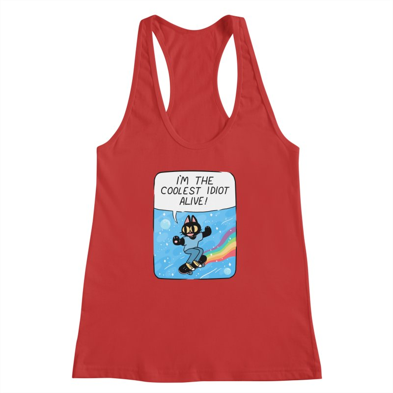 COOLEST IDIOT Women's Racerback Tank by GOOD AND NICE SHIRTS