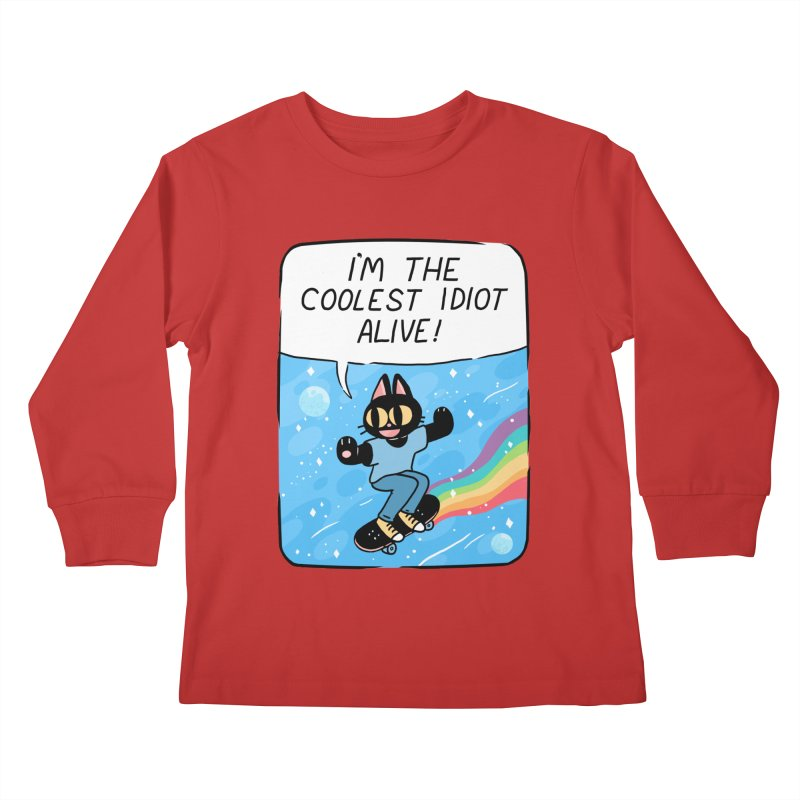 COOLEST IDIOT Kids Longsleeve T-Shirt by GOOD AND NICE SHIRTS