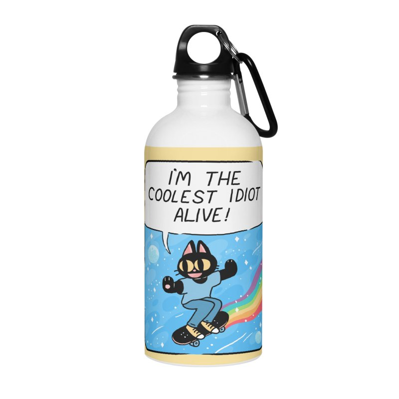 COOLEST IDIOT Accessories Water Bottle by GOOD AND NICE SHIRTS