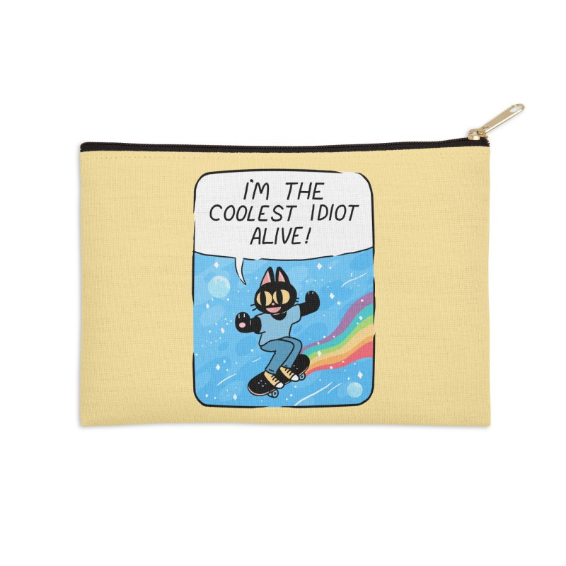COOLEST IDIOT Accessories Zip Pouch by GOOD AND NICE SHIRTS
