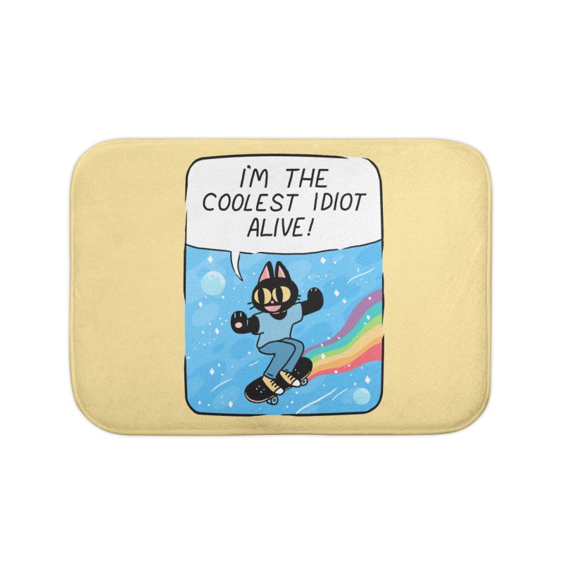 COOLEST IDIOT Home Bath Mat by GOOD AND NICE SHIRTS