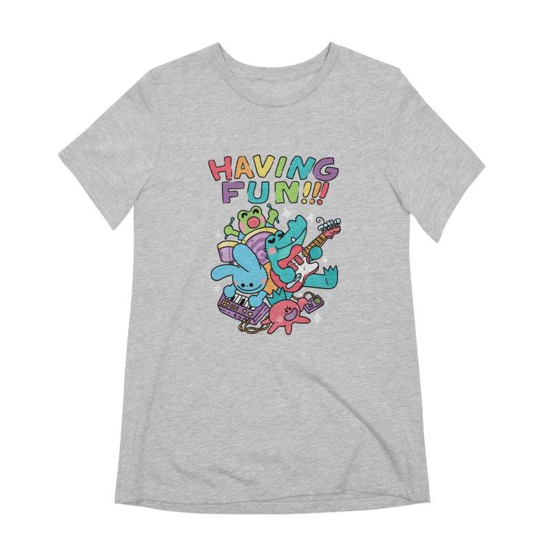 HAVING FUN Women's Extra Soft T-Shirt by GOOD AND NICE SHIRTS