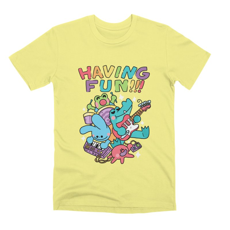 HAVING FUN Men's Premium T-Shirt by GOOD AND NICE SHIRTS