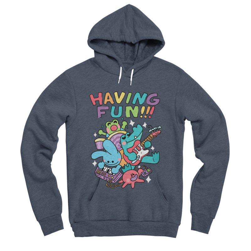 HAVING FUN Men's Sponge Fleece Pullover Hoody by GOOD AND NICE SHIRTS