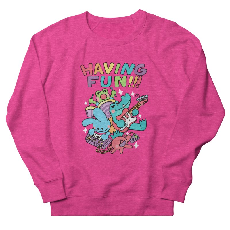 HAVING FUN Men's French Terry Sweatshirt by GOOD AND NICE SHIRTS