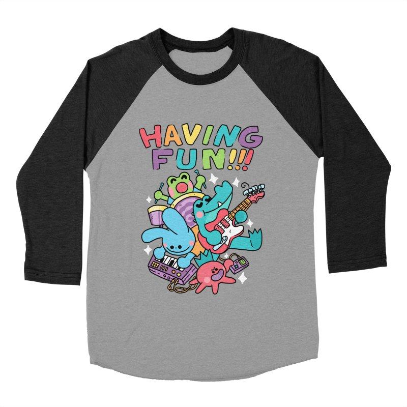 HAVING FUN Women's Baseball Triblend Longsleeve T-Shirt by GOOD AND NICE SHIRTS