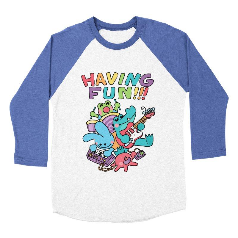 HAVING FUN Men's Baseball Triblend Longsleeve T-Shirt by GOOD AND NICE SHIRTS