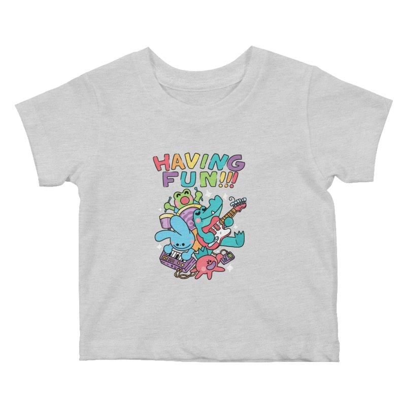 HAVING FUN Kids Baby T-Shirt by GOOD AND NICE SHIRTS