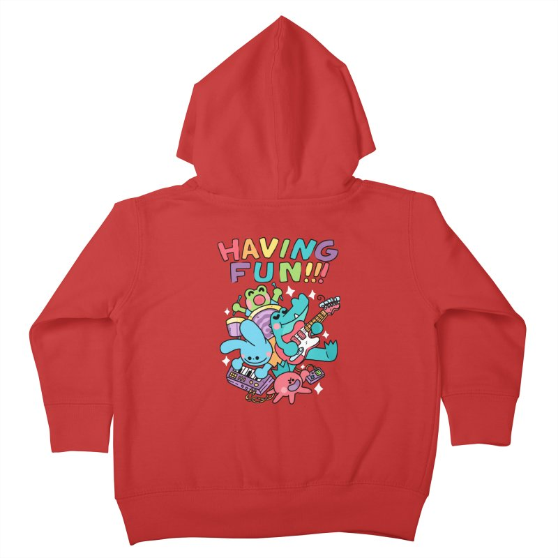 HAVING FUN Kids Toddler Zip-Up Hoody by GOOD AND NICE SHIRTS