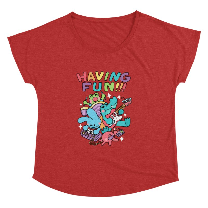 HAVING FUN Women's Dolman Scoop Neck by GOOD AND NICE SHIRTS
