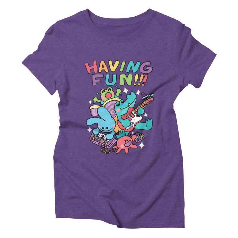 HAVING FUN Women's Triblend T-Shirt by GOOD AND NICE SHIRTS
