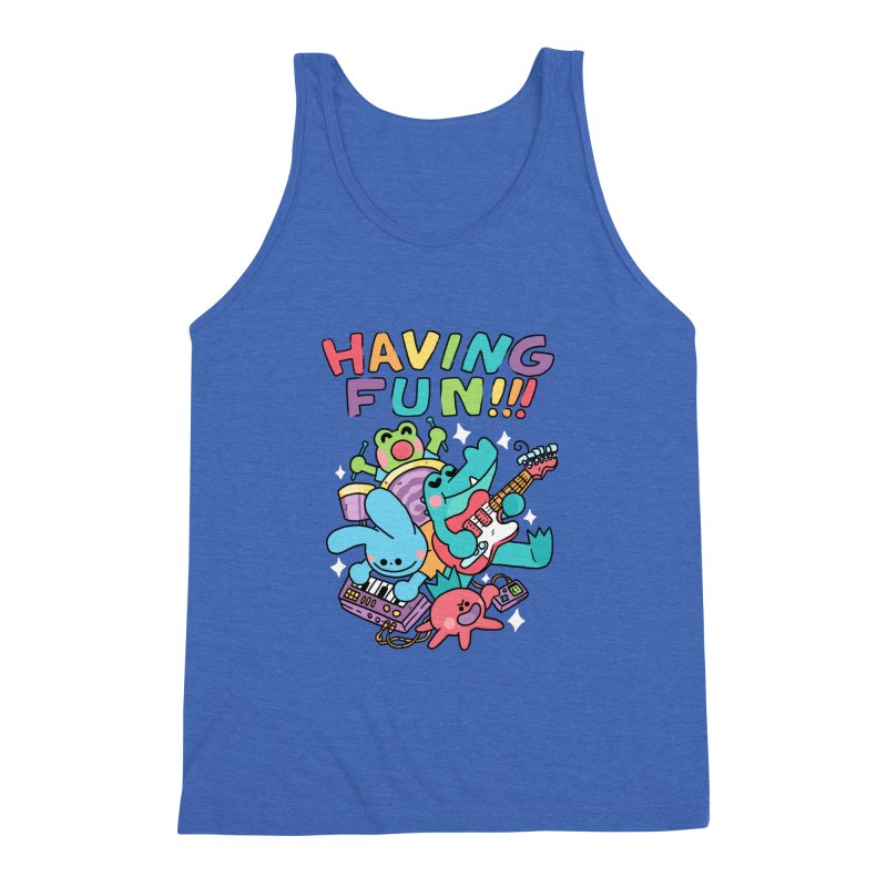 HAVING FUN Men's Triblend Tank by GOOD AND NICE SHIRTS