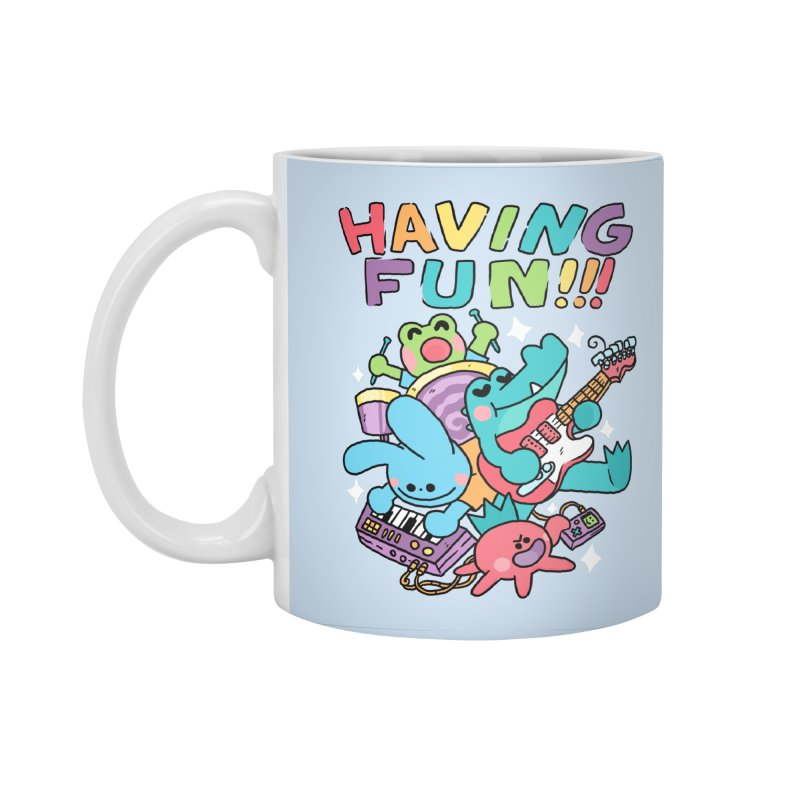 HAVING FUN Accessories Standard Mug by GOOD AND NICE SHIRTS