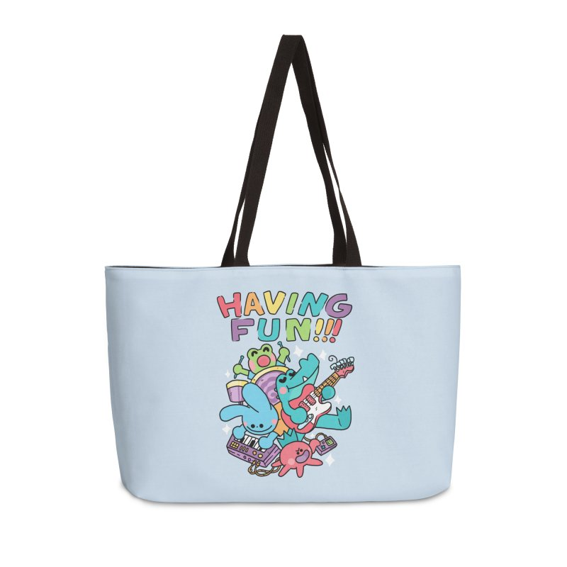 HAVING FUN Accessories Weekender Bag Bag by GOOD AND NICE SHIRTS