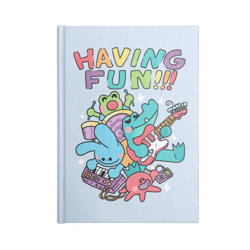 HAVING FUN Accessories Lined Journal Notebook by GOOD AND NICE SHIRTS