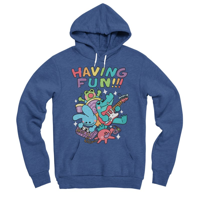 HAVING FUN Women's Sponge Fleece Pullover Hoody by GOOD AND NICE SHIRTS