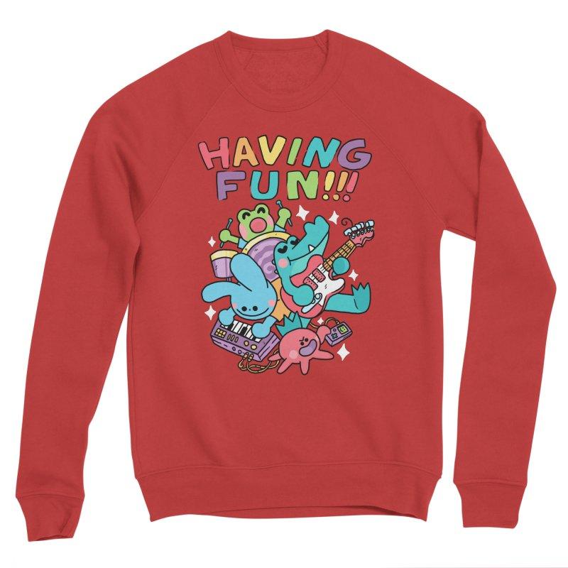HAVING FUN Women's Sponge Fleece Sweatshirt by GOOD AND NICE SHIRTS