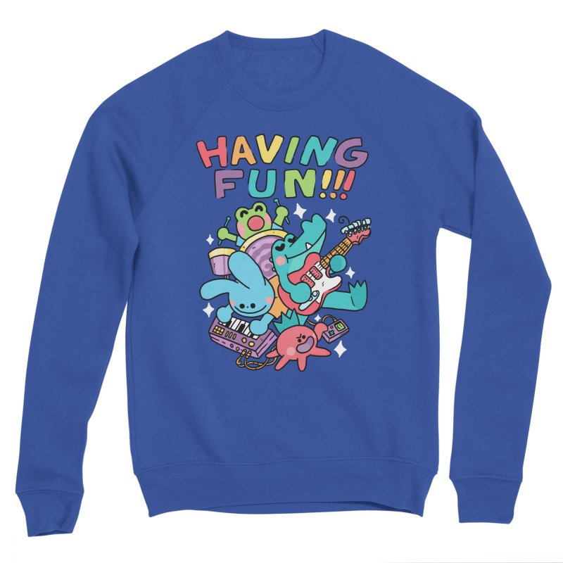 HAVING FUN Women's Sponge Fleece Sweatshirt by GOOD AND NICE SHIRTS
