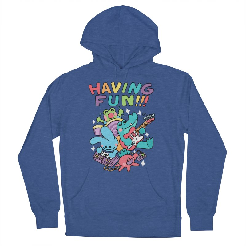 HAVING FUN Women's French Terry Pullover Hoody by GOOD AND NICE SHIRTS