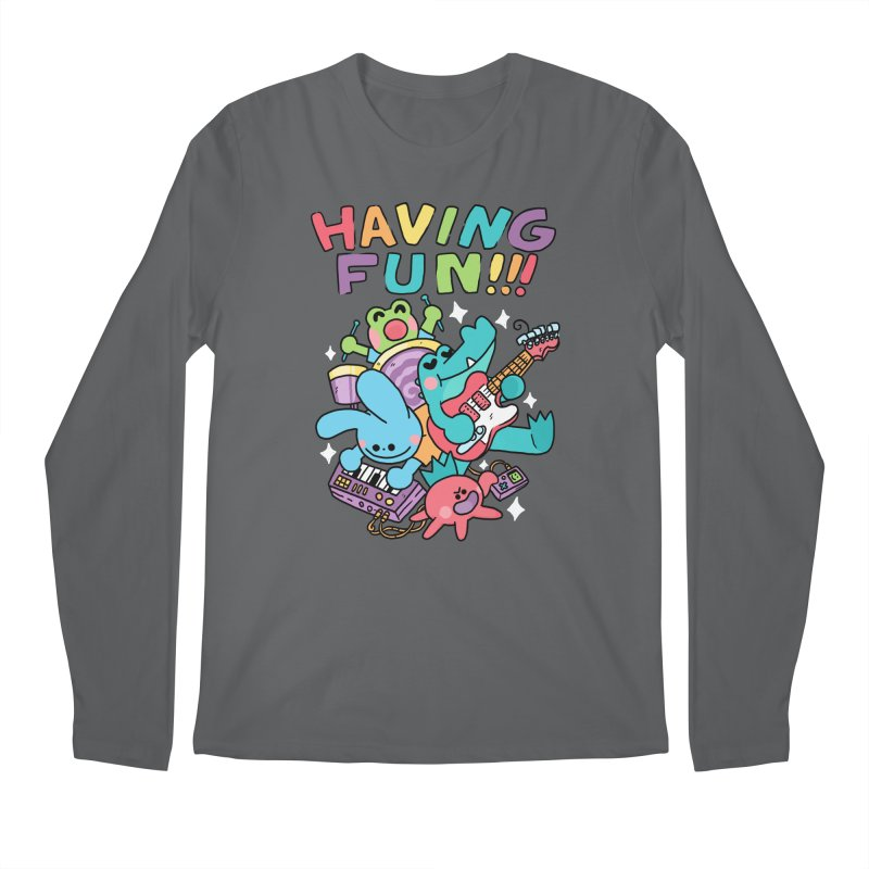 HAVING FUN Men's Longsleeve T-Shirt by GOOD AND NICE SHIRTS