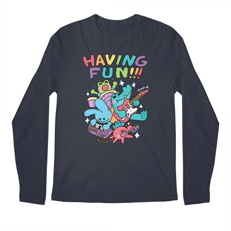 HAVING FUN Men's Regular Longsleeve T-Shirt by GOOD AND NICE SHIRTS