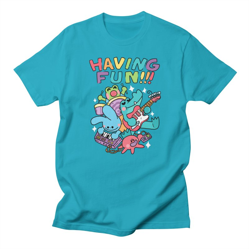 HAVING FUN Men's Regular T-Shirt by GOOD AND NICE SHIRTS