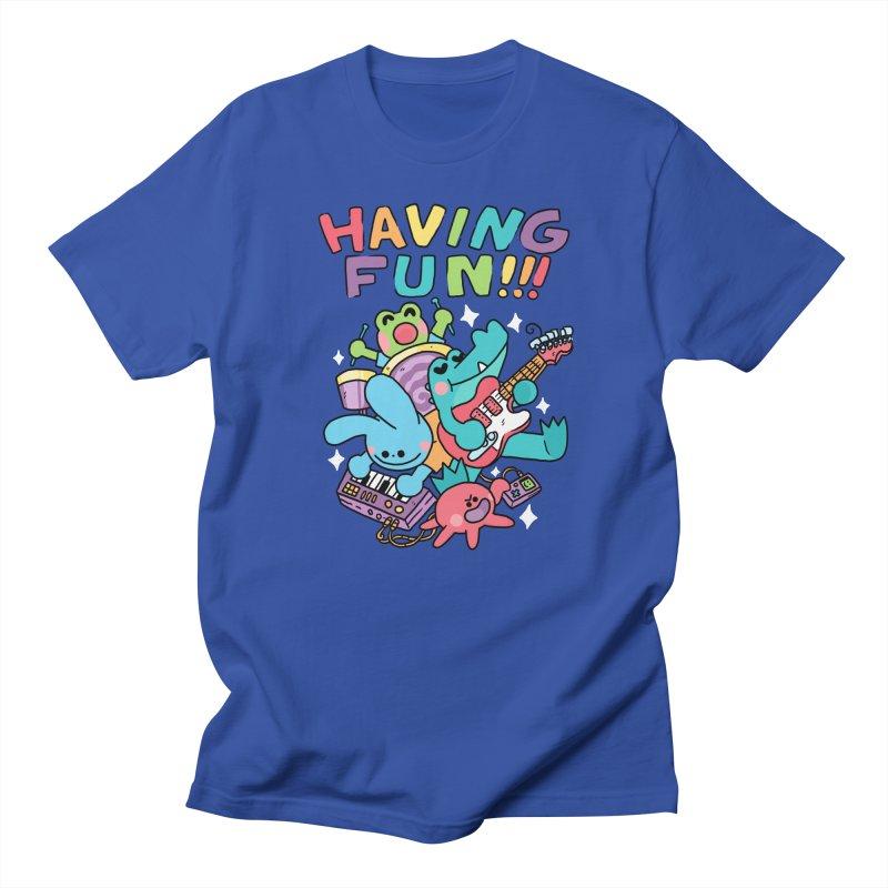 HAVING FUN Women's Regular Unisex T-Shirt by GOOD AND NICE SHIRTS