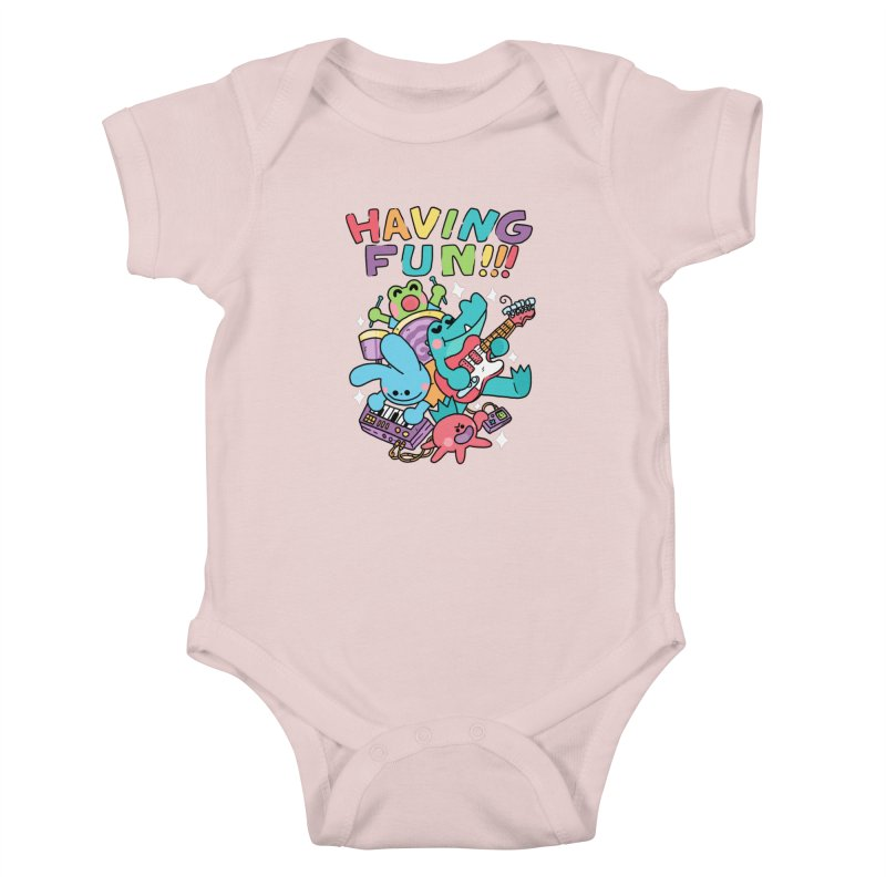 HAVING FUN Kids Baby Bodysuit by GOOD AND NICE SHIRTS