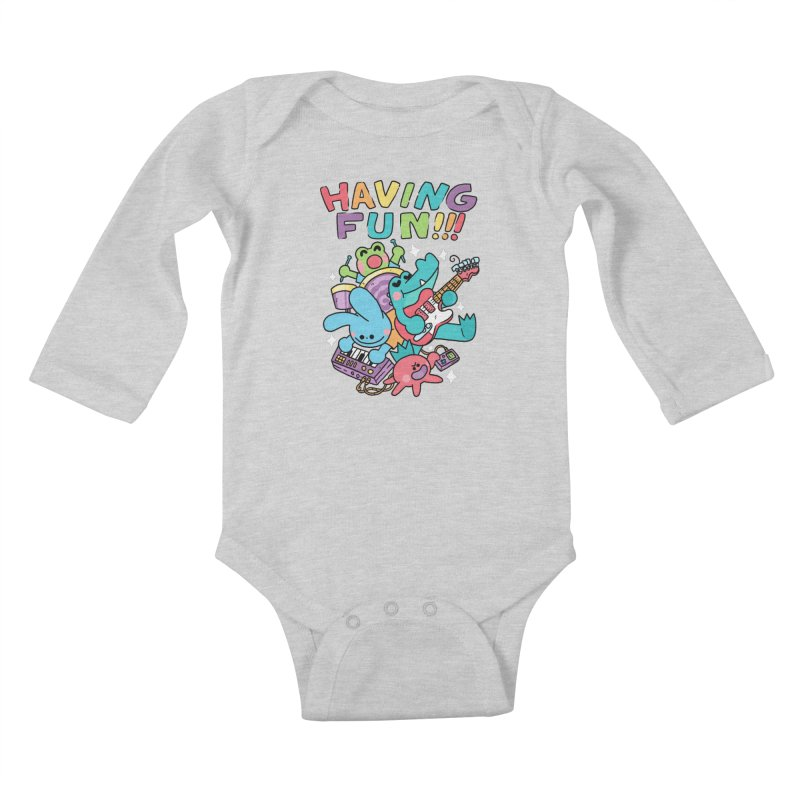 HAVING FUN Kids Baby Longsleeve Bodysuit by GOOD AND NICE SHIRTS