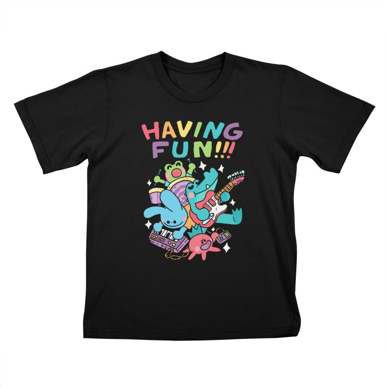 HAVING FUN Kids T-Shirt by GOOD AND NICE SHIRTS