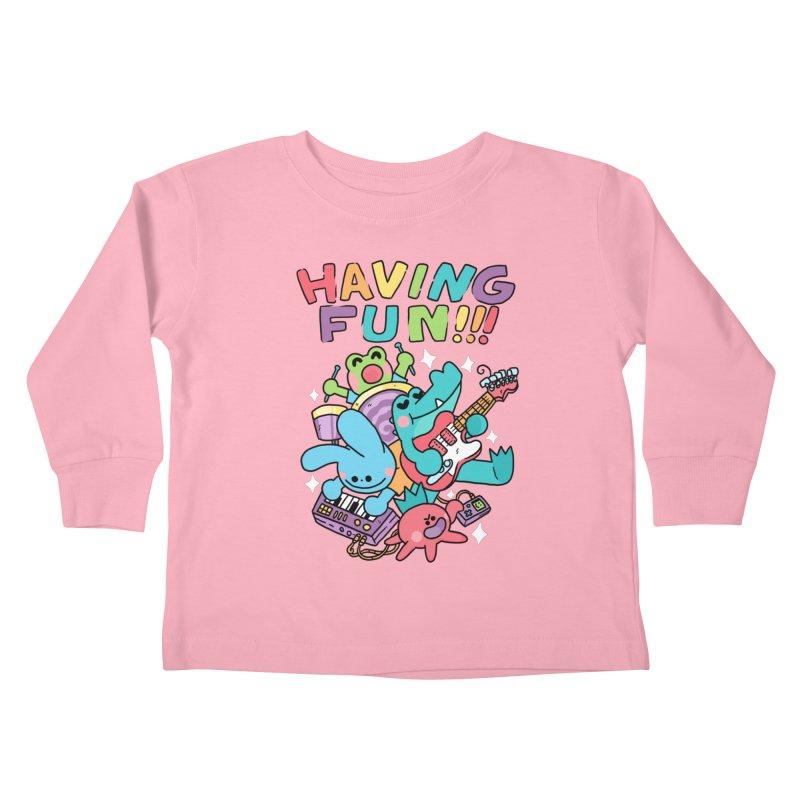 HAVING FUN Kids Toddler Longsleeve T-Shirt by GOOD AND NICE SHIRTS