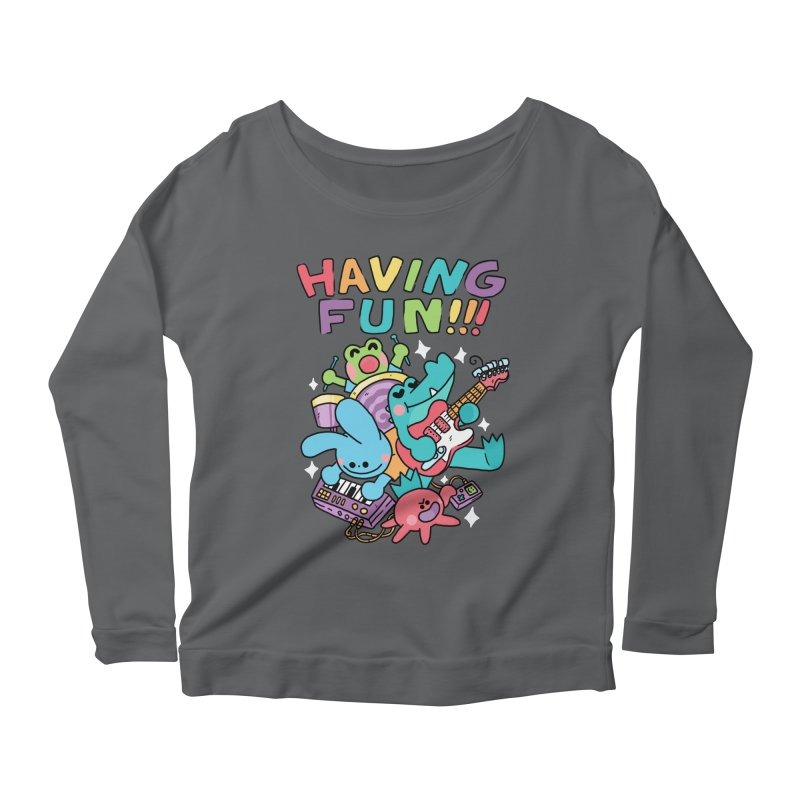 HAVING FUN Women's Scoop Neck Longsleeve T-Shirt by GOOD AND NICE SHIRTS