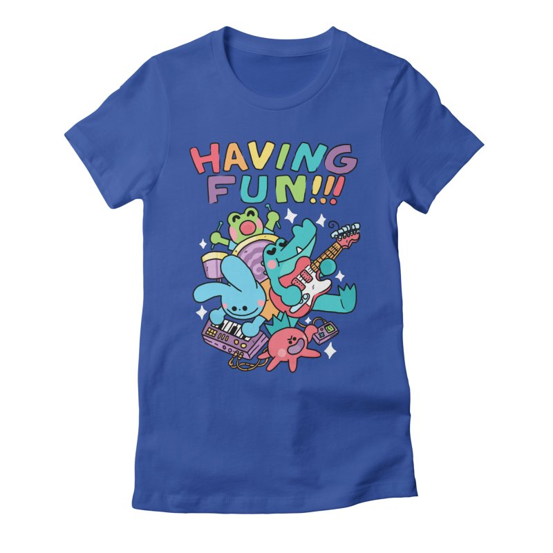 HAVING FUN Women's Fitted T-Shirt by GOOD AND NICE SHIRTS