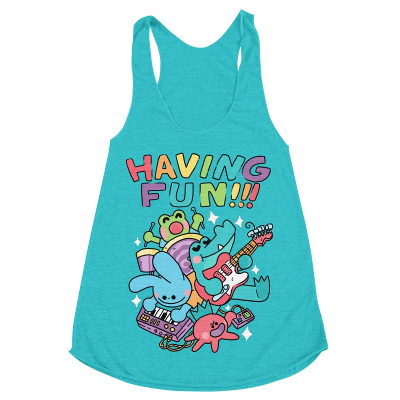 HAVING FUN Women's Racerback Triblend Tank by GOOD AND NICE SHIRTS