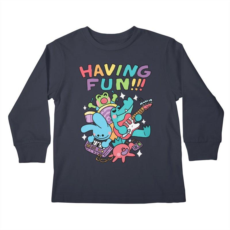 HAVING FUN Kids Longsleeve T-Shirt by GOOD AND NICE SHIRTS
