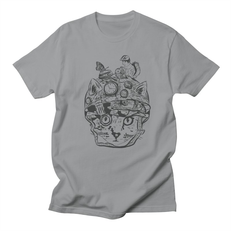 Make Your Own Time Machine Black and White Men's Regular T-Shirt by Time Machine Supplies