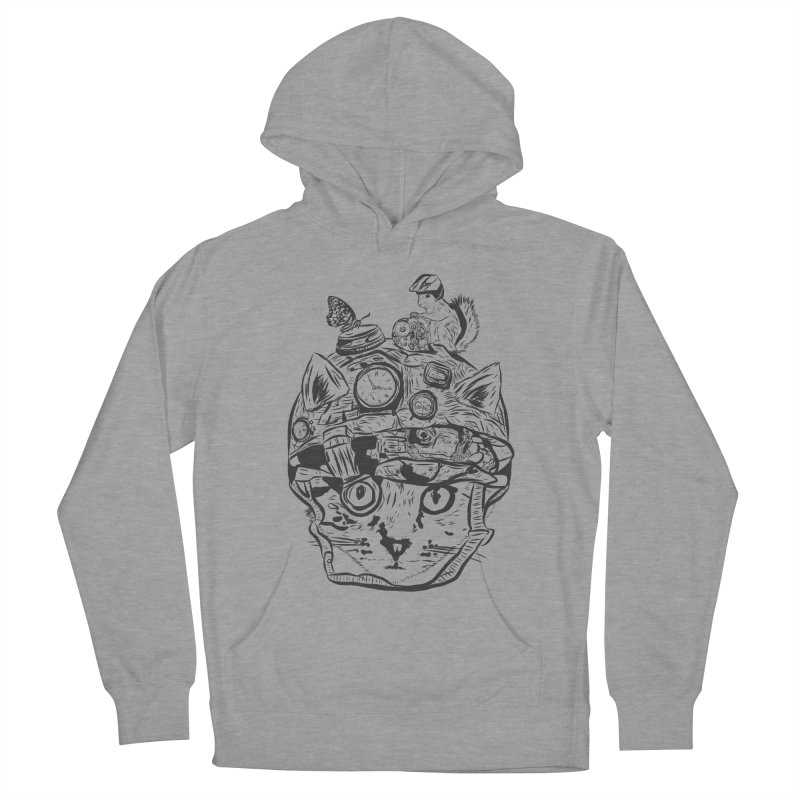 Make Your Own Time Machine Black and White Women's French Terry Pullover Hoody by Time Machine Supplies