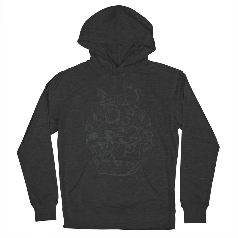 Make Your Own Time Machine Black and White Men's French Terry Pullover Hoody by Time Machine Supplies
