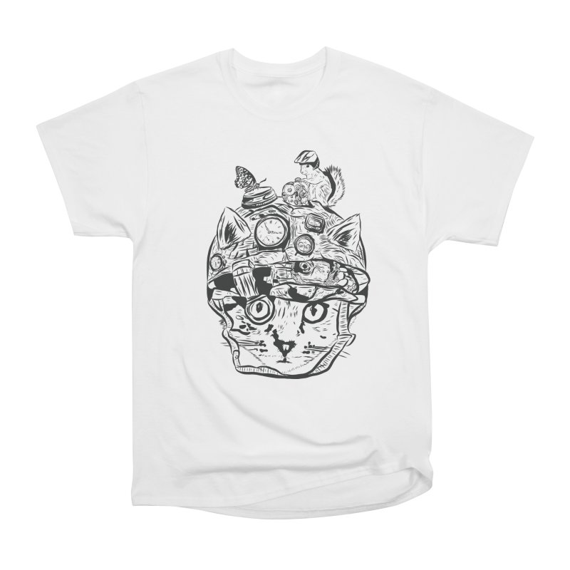 Make Your Own Time Machine Black and White Men's Heavyweight T-Shirt by Time Machine Supplies