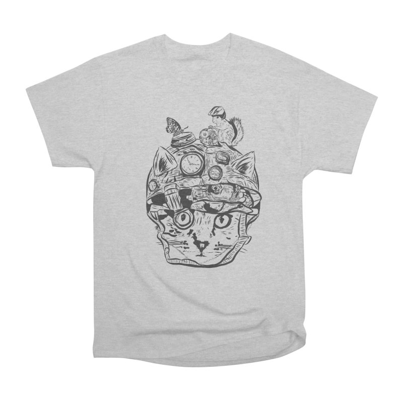 Make Your Own Time Machine Black and White Women's Heavyweight Unisex T-Shirt by Time Machine Supplies