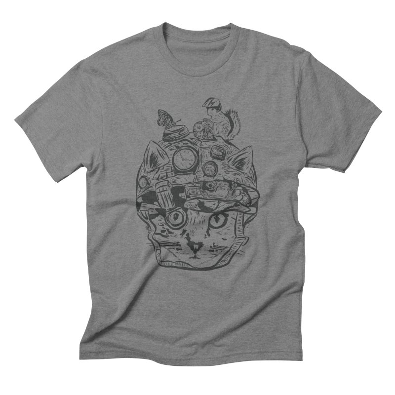Make Your Own Time Machine Black and White Men's Triblend T-Shirt by Time Machine Supplies