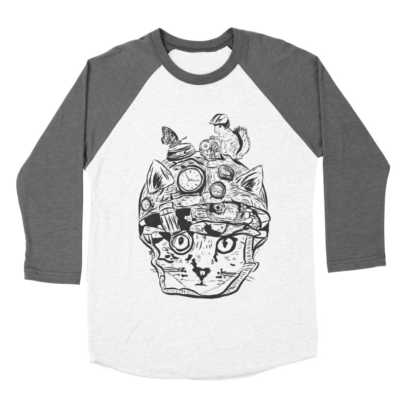 Make Your Own Time Machine Black and White Women's Baseball Triblend Longsleeve T-Shirt by Time Machine Supplies