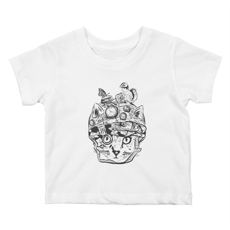 Make Your Own Time Machine Black and White Kids Baby T-Shirt by Time Machine Supplies