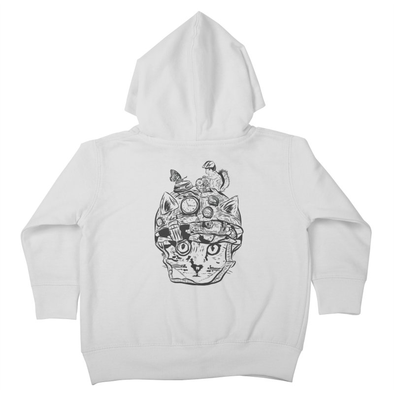 Make Your Own Time Machine Black and White Kids Toddler Zip-Up Hoody by Time Machine Supplies